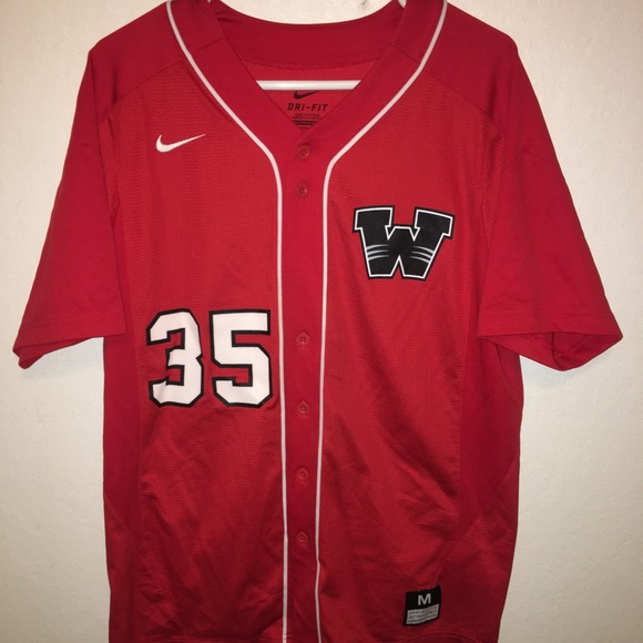 """finest selection 95053 11b56 Wisconsin badgers """"35"""" Reuvers baseball jersey"""